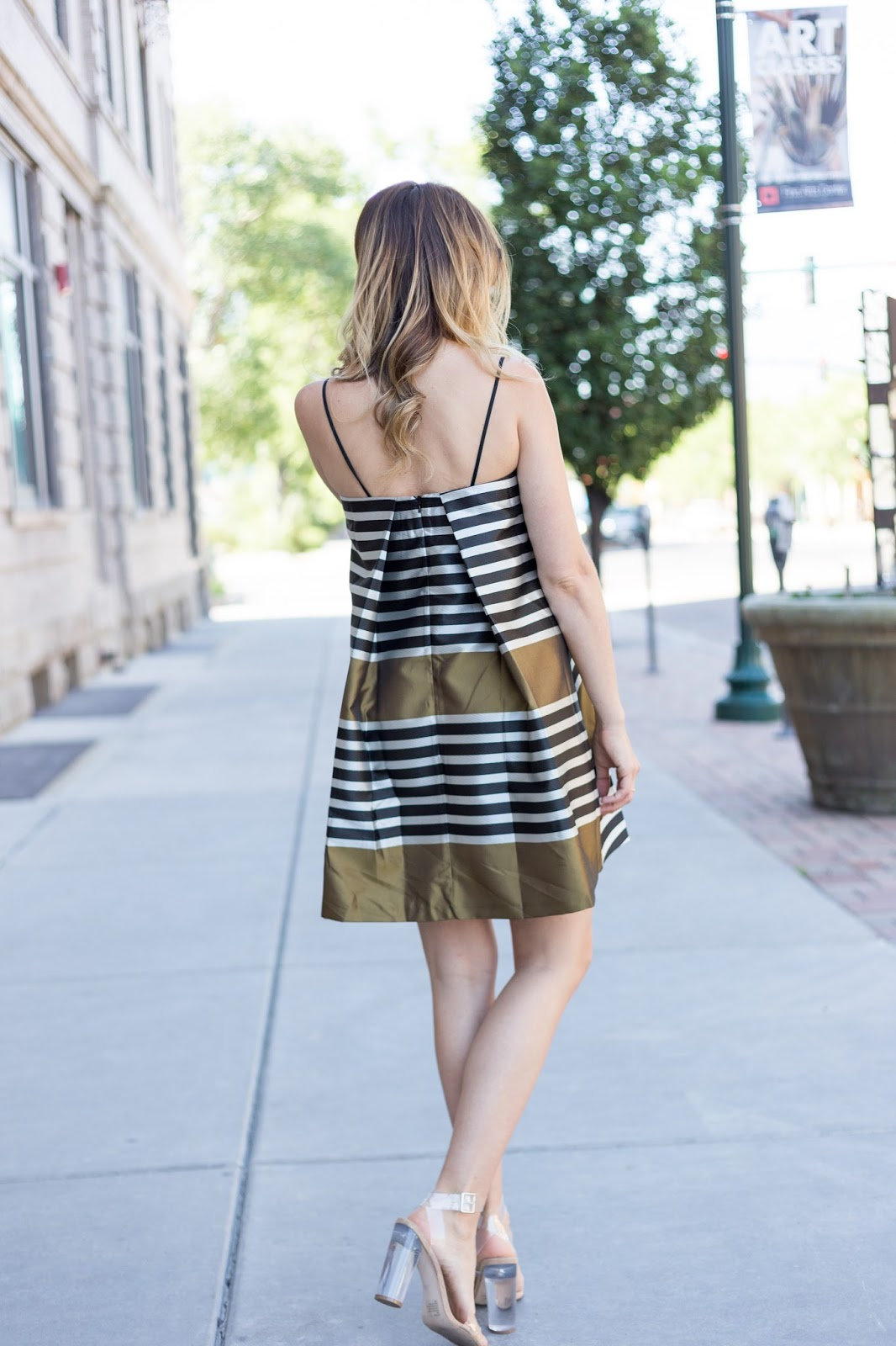 Striped Trapeze Dress
