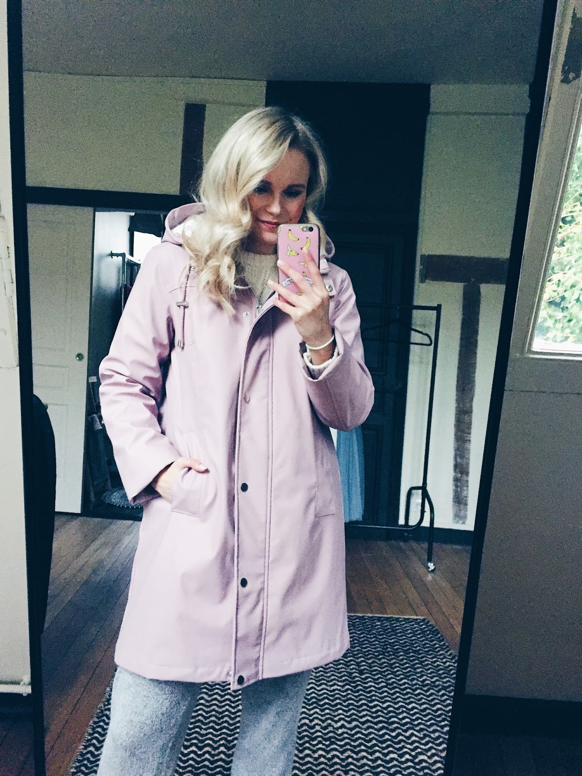 long warm raincoat