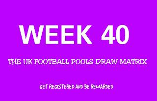 UK football pools draws on coupon