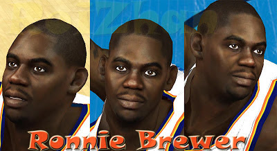 NBA 2K13 Ronnie Brewer Cyberface Patch