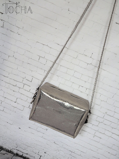 eco-fashion, eco-friendly, Kraft-Tex, minimalist, paper bag, silver, snakeskin, vegan bag, vegan leather, washable paper, washpapa,