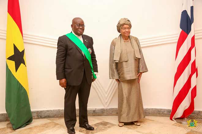 Liberia decorates Akufo-Addo with national award