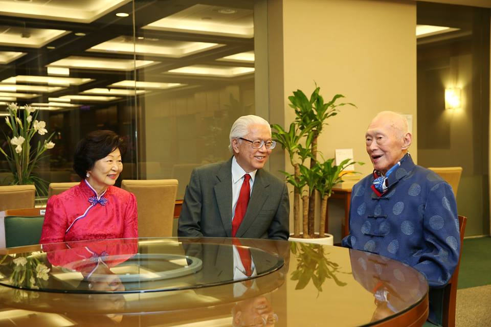 President Tony Tan with Singapore's founding Prime Minister