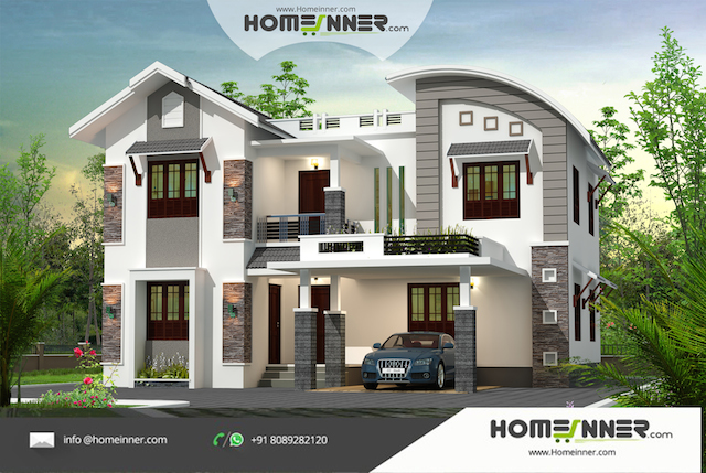 Attractive 4 Bedroom 2217 sqft Affordable Indian Home Design ...