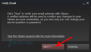 Cara Verifikasi Email di Steam