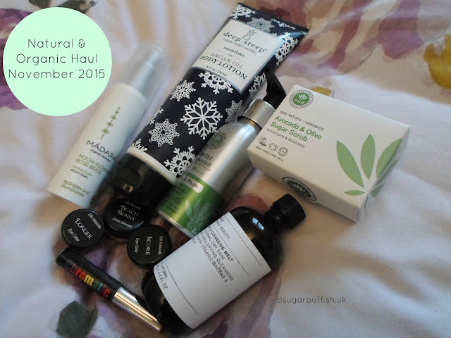 November Natural and Organic Skincare and Makeup Haul