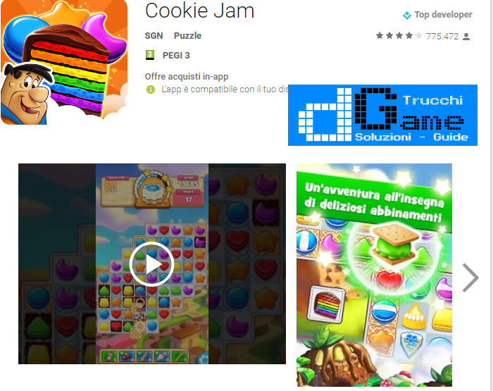 Trucchi Cookie Jam Mod Apk Android