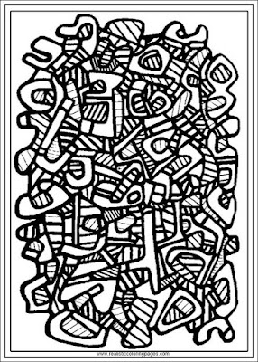 carpet no.2 jean dubufet coloring pages for adults