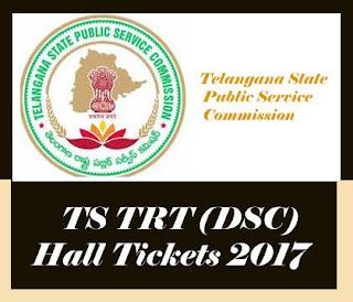 TSPSC TRT Hall ticket 2017, TS TR Hall tickets 2017,  TRT Hall ticket 2017