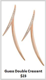 Sydney Fashion Hunter - Rose Gold - Guess Double Crescent Earrings