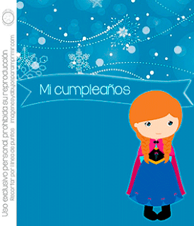 Invitacion de frozen editable