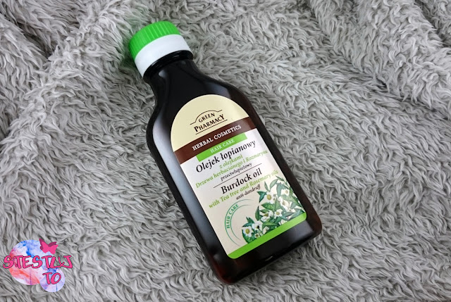 Olejowanie to przyjemność!  || Green Pharmacy - olej łopianowy z olejkami drzewa herbacianego i rozmarynu