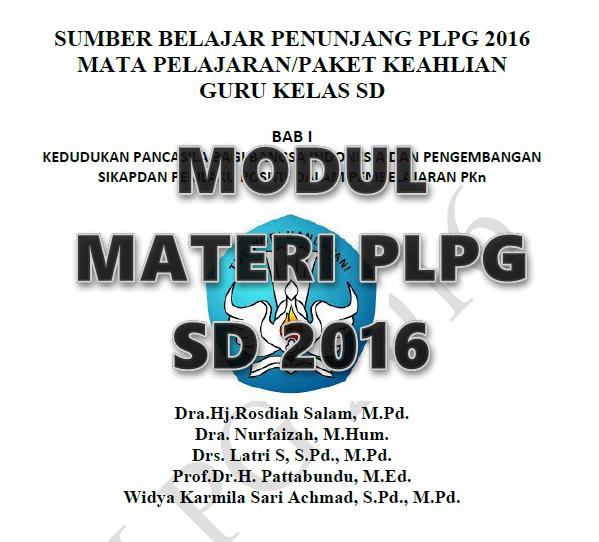 Modul Materi PLPG SD 2016