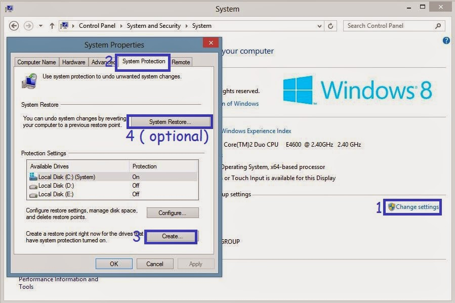 How To Do System Restore In Windows 8