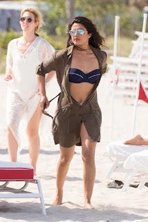 Priyanka Chopra at Miami Beach in Bikini