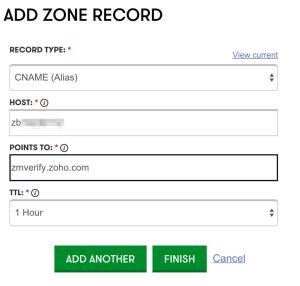 ADD ZONE FILE RECORD