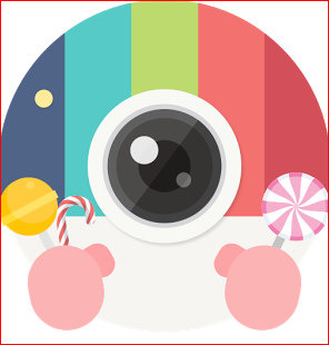 تحميل تطبيق السيلفي Candy Camera المدفوع بدون اعلانات Apk