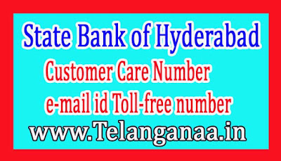 State Bank of Hyderabad Customer Care Number e-mail id Toll-free number