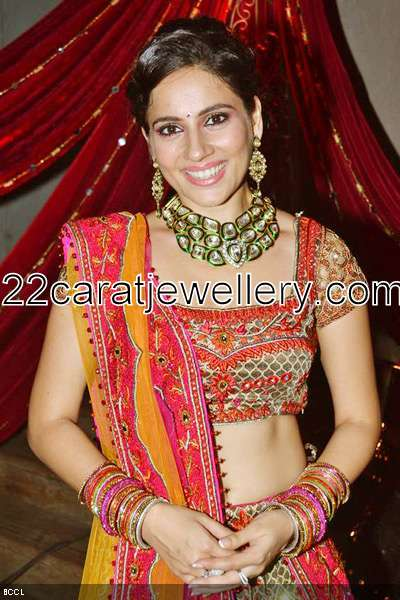 Kanchi Kaul In Kundan Necklace Jewellery Designs