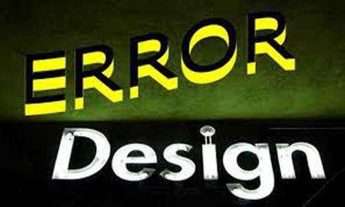 kesalahan desain blog