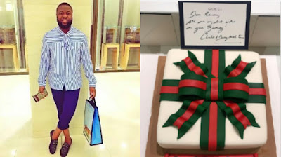 Hushpuppi and his Gucci cake