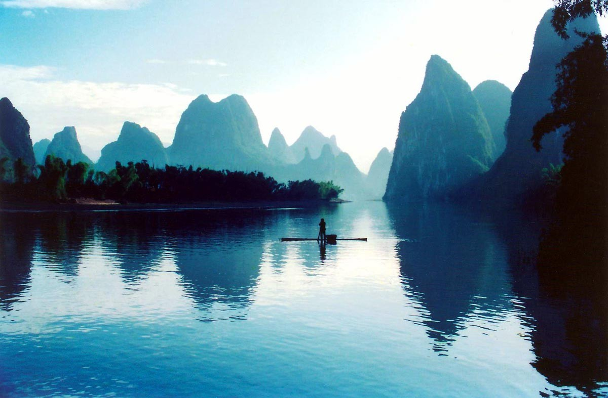 Li River in Guangxi in China