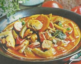 Рецепт овощного рагу со спаржевой фасолью