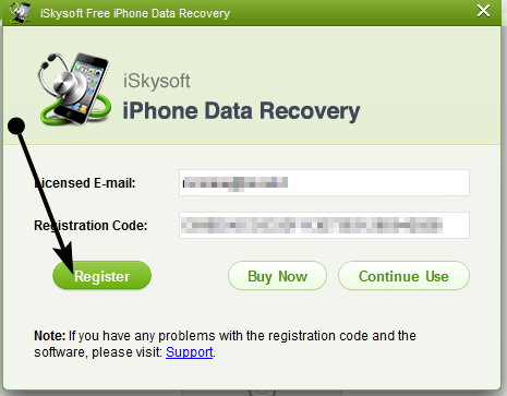 iSkysoft iPhone Data Recovery gratis: Recuperare file accidentalmente cancellati dal vostro