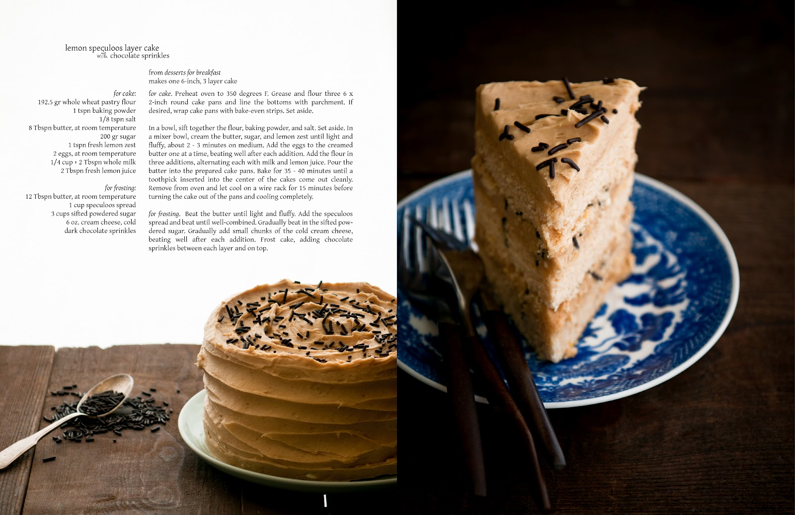 Desserts For Breakfast Lemon Speculoos Layer Cake With