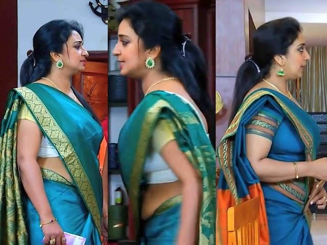 Sona Nair Hot Tummy Side View