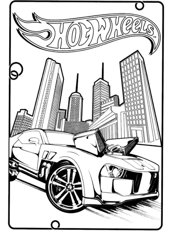 Hot Wheels Coloring Page Wallpapers King