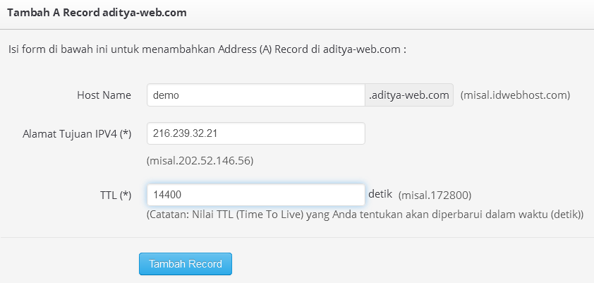 Tutorial Cara Membuat Subdomain di Blogger