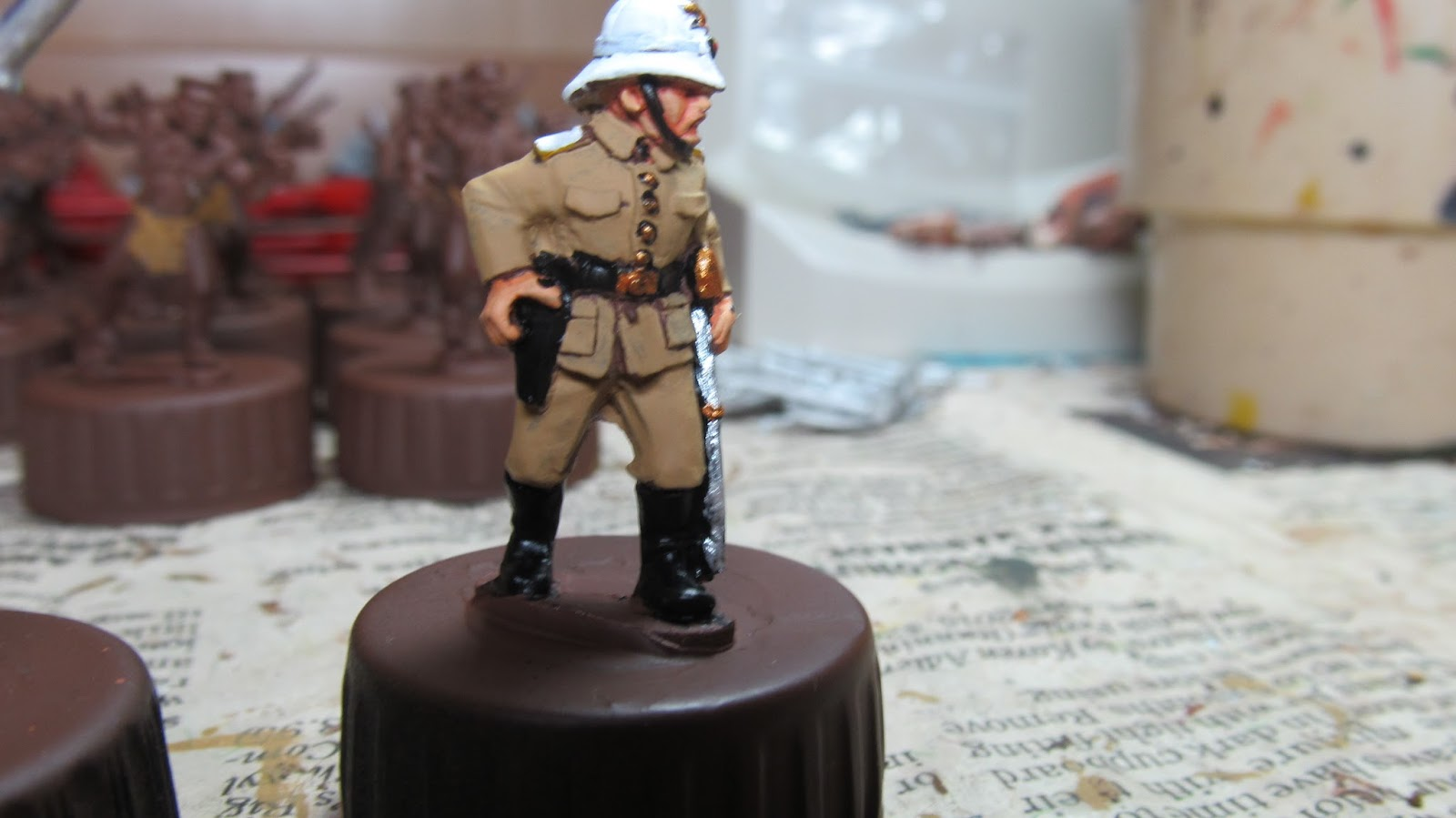 What Paint To Use On Toy Soldier Metal Castings