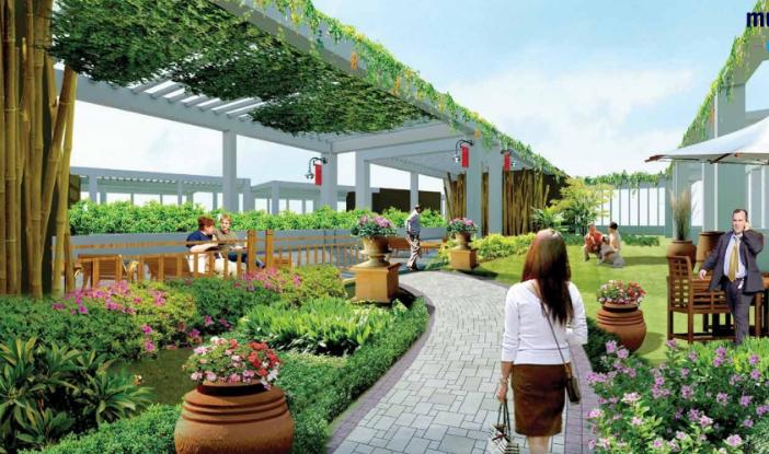 Vườn trên mây của dự án Green Pearl Minh Khai