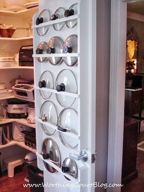 kitchen storage solution for lids