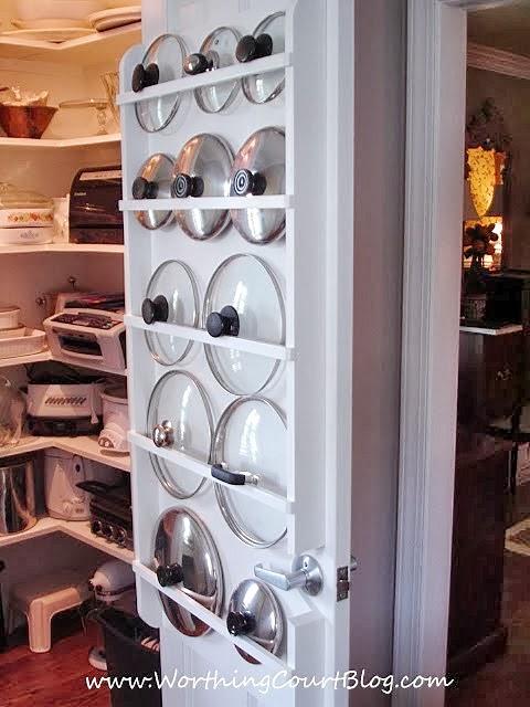 kitchen storage solution for lids