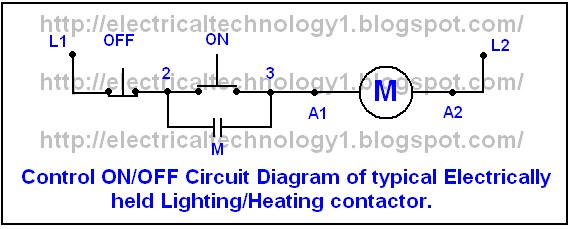 Electrical technology: One line Diagrame of Simple Contactor ... on