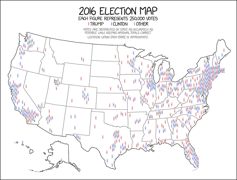 2016 Electoral Map by Randall Munroe.