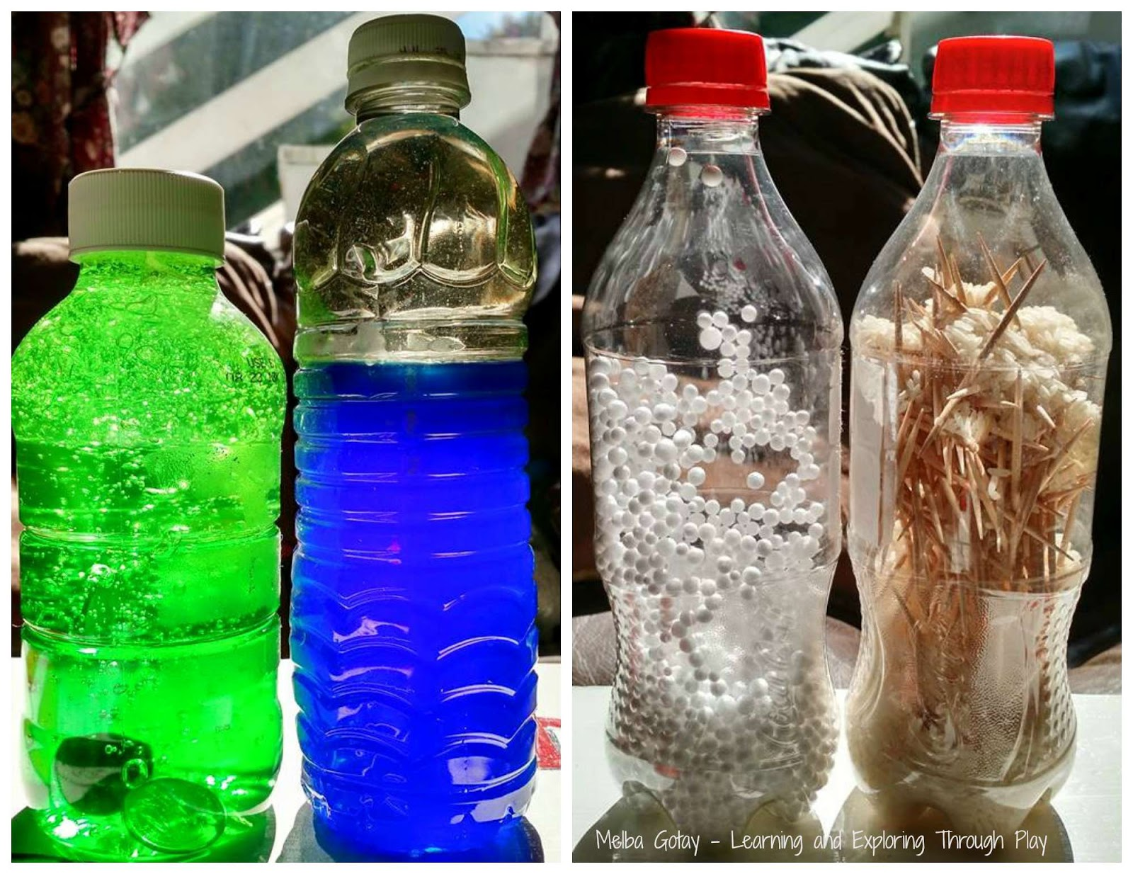 oil and water sensory bottle