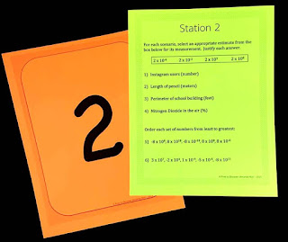 Scientific Notation Stations from Free to Discover