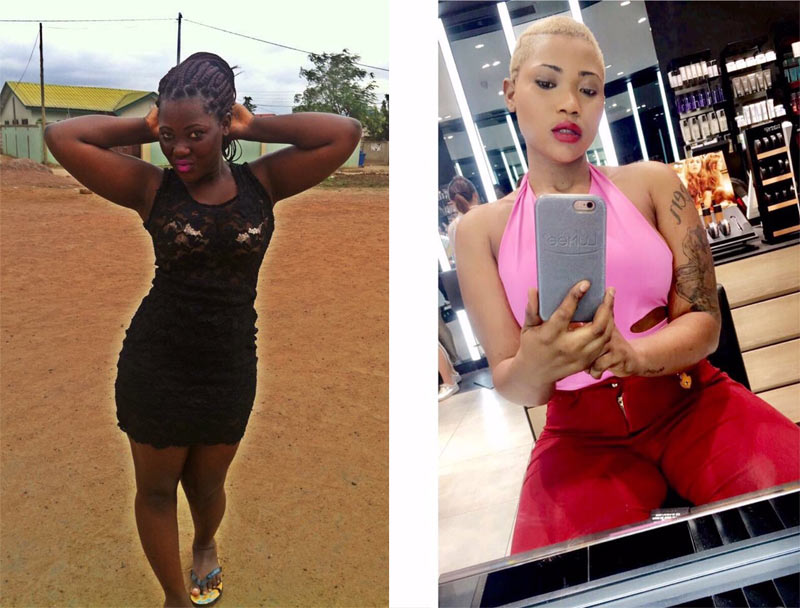 Nigerian lady causes uproar after she transforms with bleaching cream