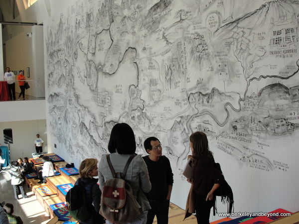 Crane Forum and Art Wall at new Berkeley Art Museum in Berkeley, California