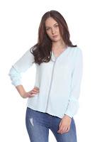 Bluza eleganta turquoise