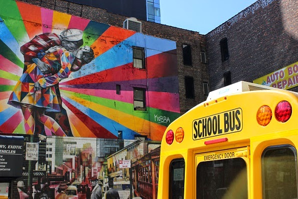 NYC school bus street art