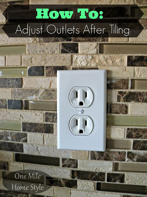 How to adjust electrical outlets after tiling a backsplash