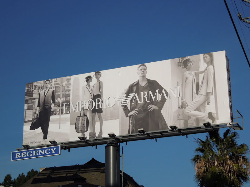 Emporio Armani Jan 2012 billboard