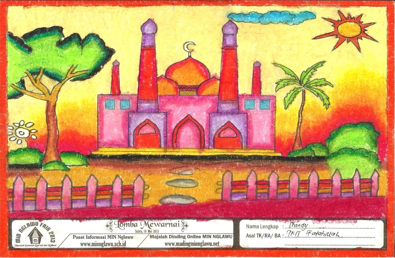 Martias Db21 Contoh Gambar Lomba Mewarnai Masjid