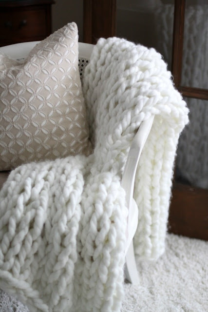 Knit blanket diy, diy home decor, gift diy, diy,