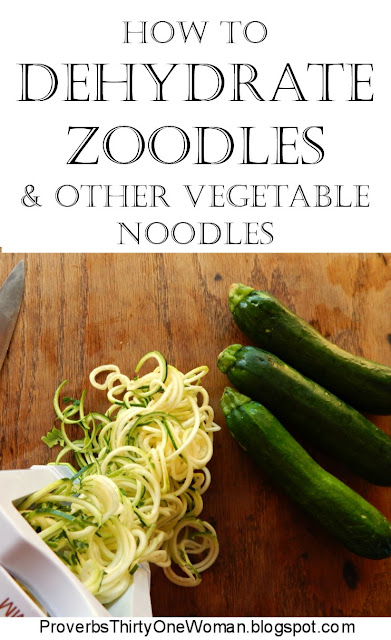 How to dehydrate vegetable noodles