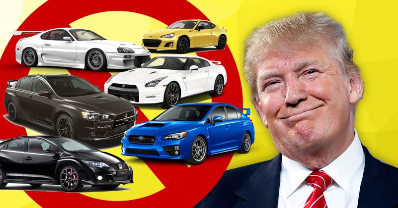trump bans all cars